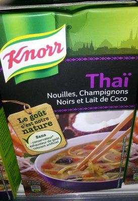 Soupe thai Nouilles, champignons noirs et lait de coco - Produkt - fr