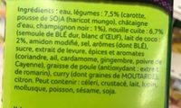 Soupe thai Nouilles, champignons noirs et lait de coco - Inhaltsstoffe - fr