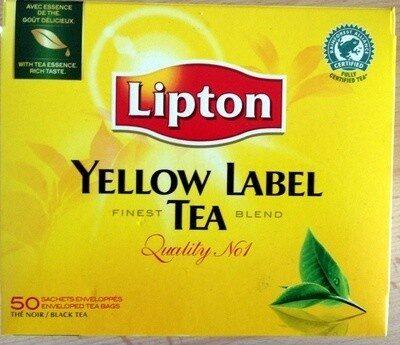 Lipton Yellow Thé Noir 50 Sachets - Product - fr