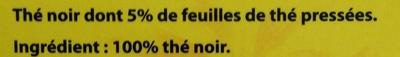 Lipton Yellow Label Tea x50 - Ingrédients - fr