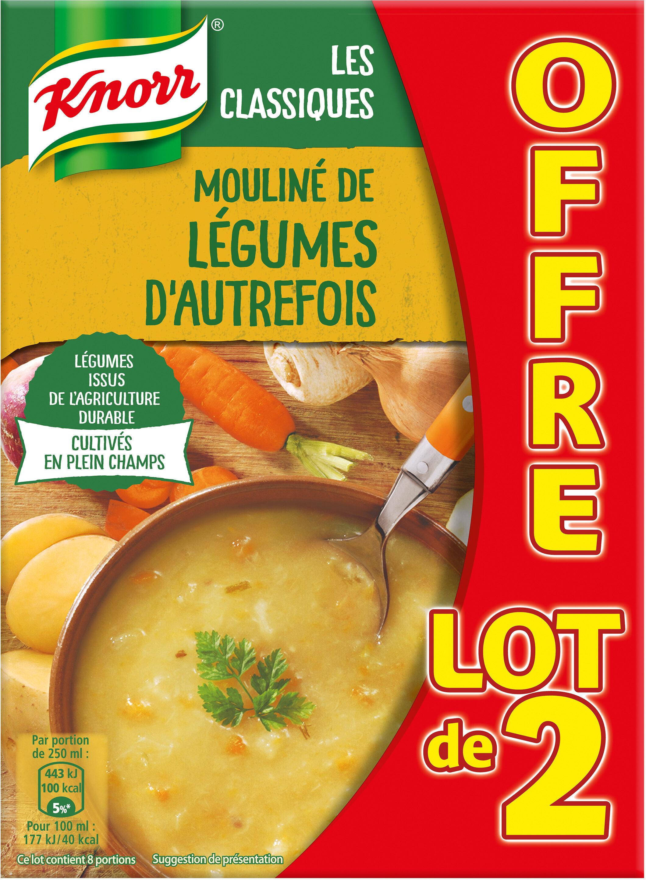 Knorr Les Classiques Soupe Liquide Mouliné aux Légumes d'Autrefois Lot 2x1L - Product - fr
