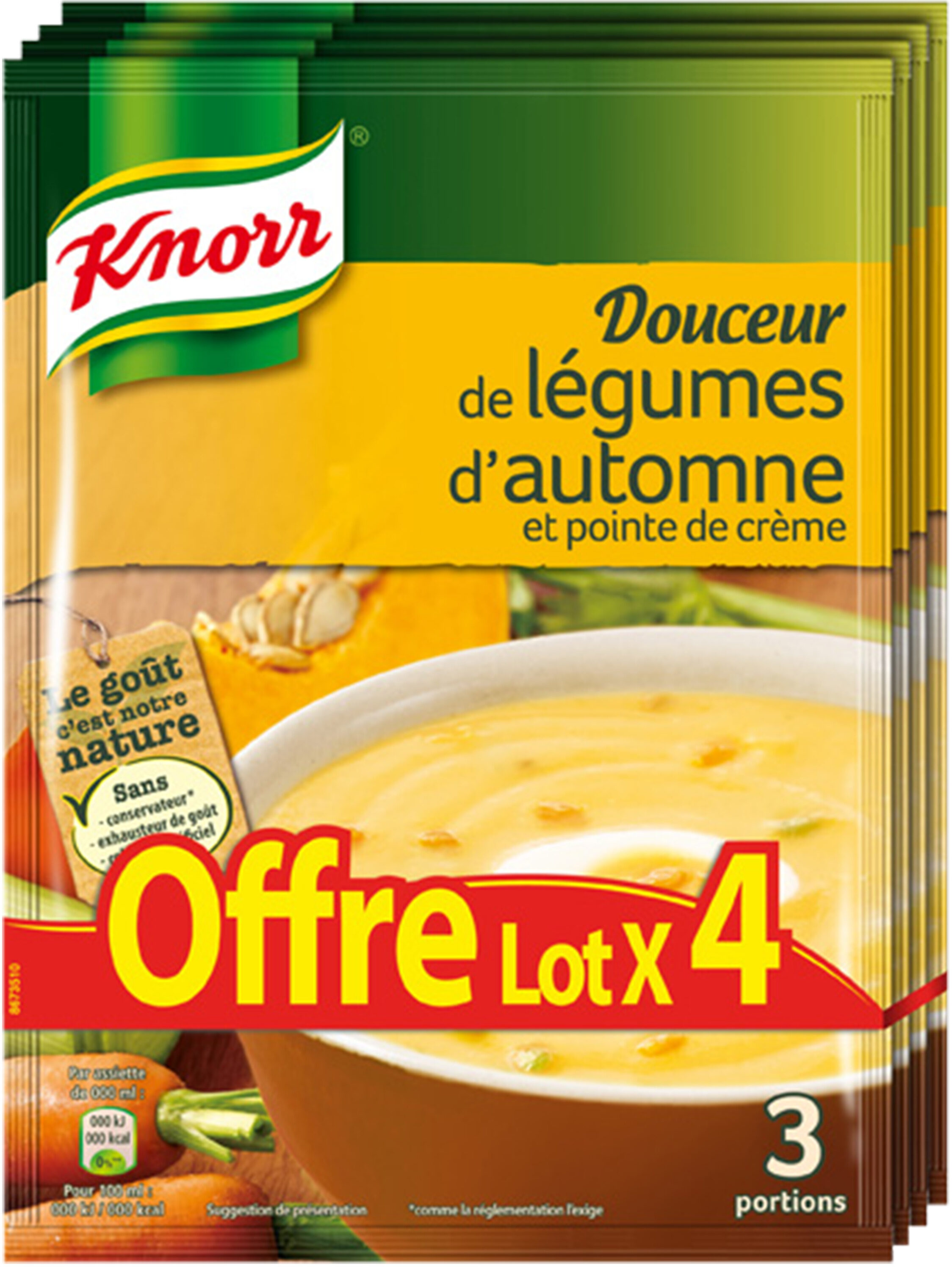 Knorr Douceur de légumes d'Automnes 83g lot de 4 - Product - fr