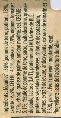 Knorr Douceur de légumes d'Automnes 83g lot de 4 - Ingrediënten - fr