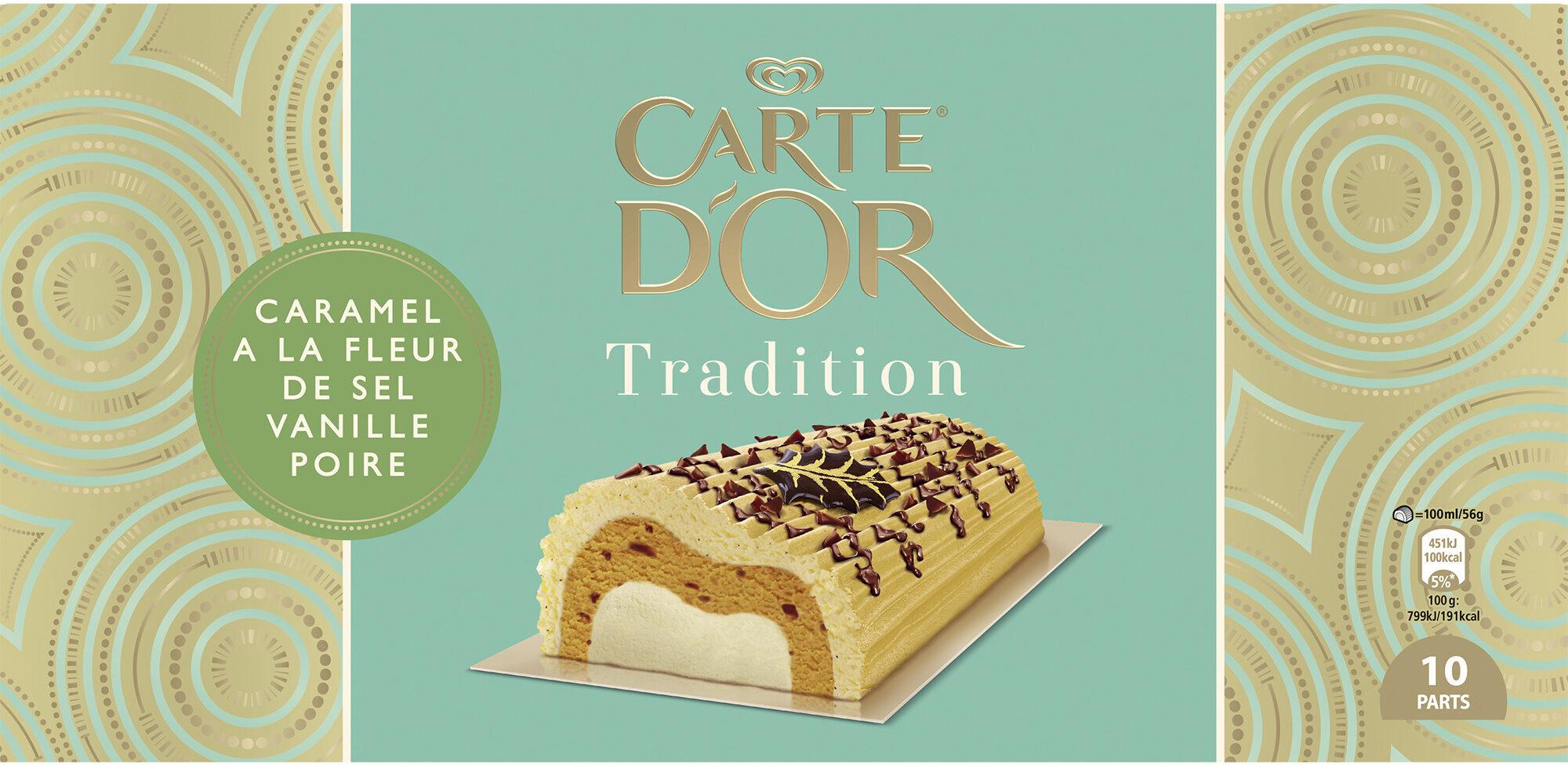 Carte D'or Tradition Glace Buche Tradition Caramel Fleur de Sel Vanille Poire 10 parts - Produit - fr