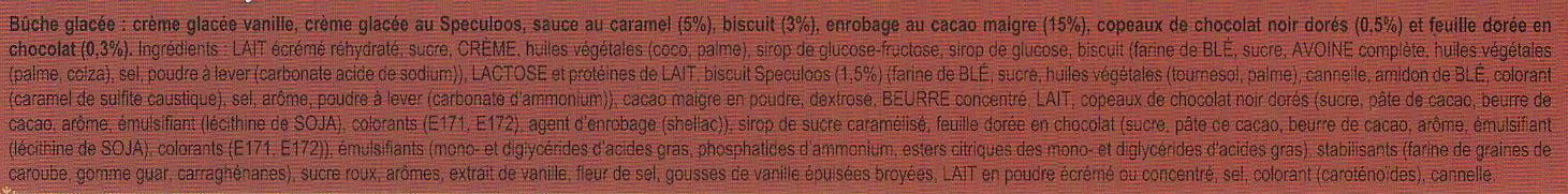 Carte D'or Buche Glacée Biscuit Speculoos 9 parts 900ml - Ingredients