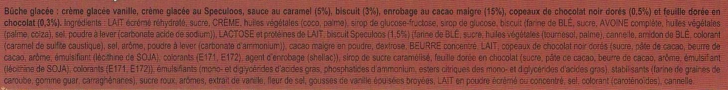 Carte D'or Buche Glacée Biscuit Speculoos 9 parts 900ml - Ingrediënten - fr