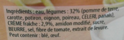 Knorr Les Classiques Soupe Liquide Douceur d'Automne à la Crème Fraîche Brique 50cl - Ingrédients - fr