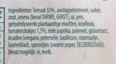 Spaghetti met Italiaanse tomatensaus - Ingredients - nl