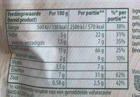 Spaghetti met Italiaanse tomatensaus - Nutrition facts - nl