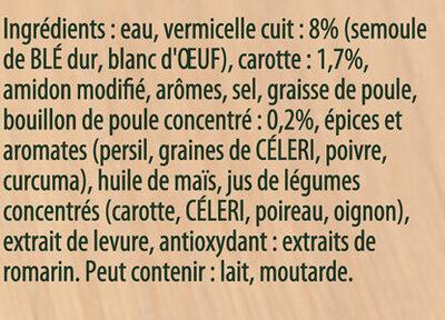 Knorr Soupe Liquide Poule Vermicelles - Ingredients - fr