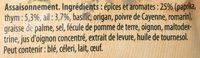 19G Kit Cuisson Potatoes Paprika Knorr - Ingrédients - fr