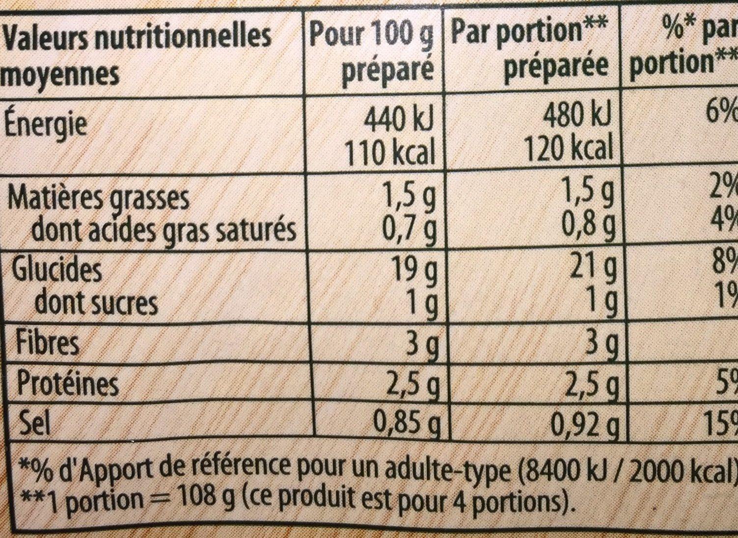 19G Kit Cuisson Potatoes Paprika Knorr - Informations nutritionnelles - fr