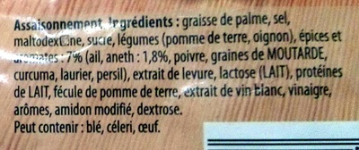 Cuisson en papillote Saumon sauce à l'Aneth - Ingredients - fr