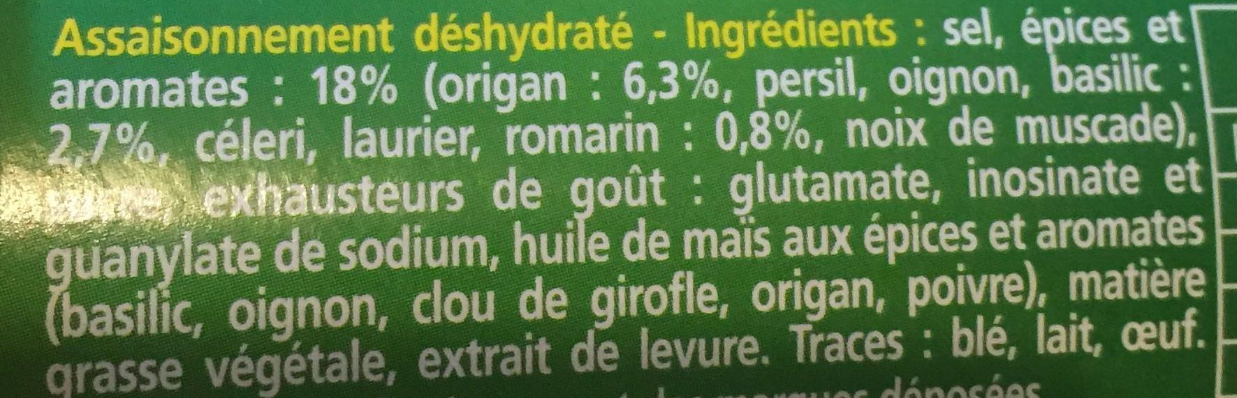 Knorr Assaisonnement En Poudre Plein Sud Tube - Ingrédients - fr