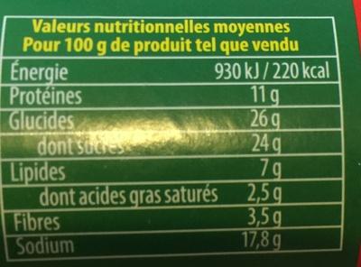 Knorr Assaisonnement En Poudre Plein Sud Tube - Informations nutritionnelles - fr