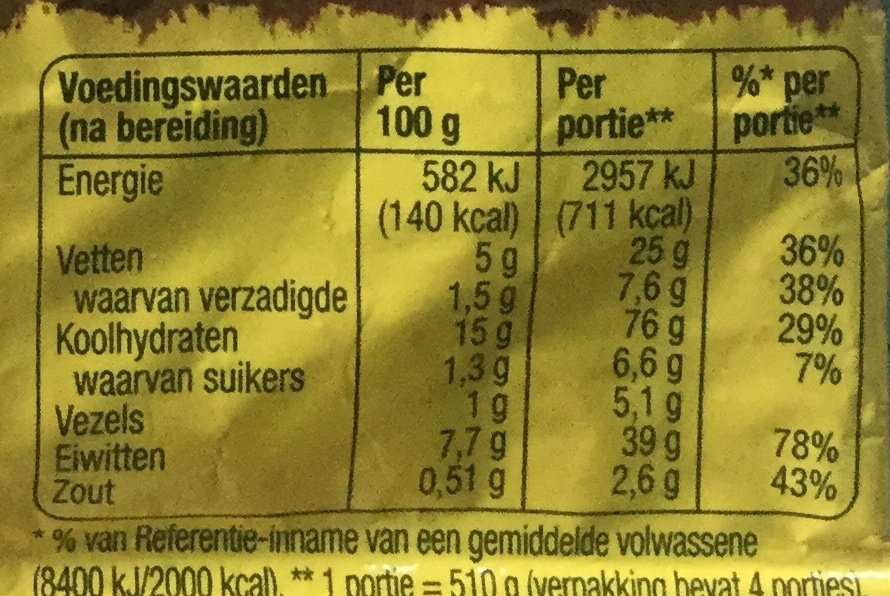 Mix voor Nasi Goreng - Nutrition facts - nl