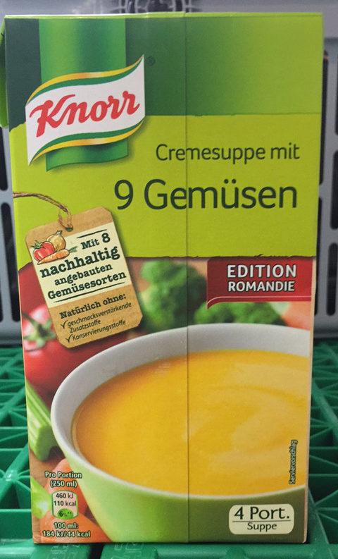 Cremesuppe mit 9 Gemüsen - Product - fr