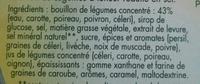 Marmite de Bouillon Légumes (Moins 25% de sel) - Ingredients