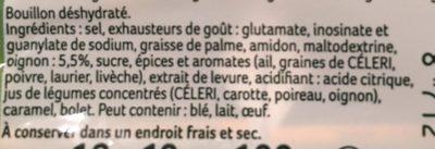 Knorr Bouillon Cube Fait Tout 100% Végétal x10 - Ingredients - fr
