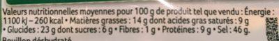 Knorr Bouillon Cube Fait Tout 100% Végétal x10 - Nutrition facts - fr