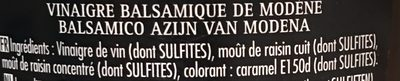 Maille Vinaigre Balsamique de Modène 75 cl - Ingredients - fr
