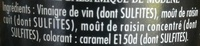 Vinaigre balsamique - Ingredients