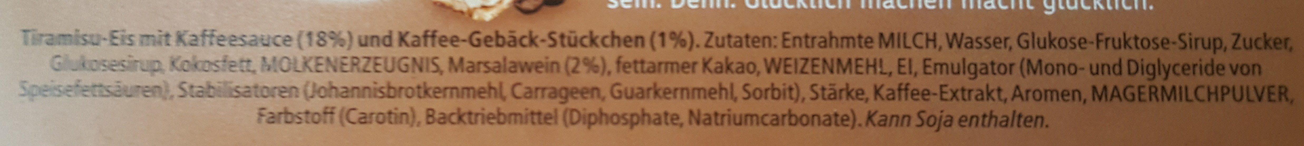 Cremissimo Tiramisu - Ingredients - de