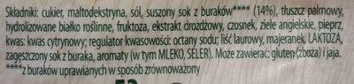 Barszcz czerwony - Ingredients