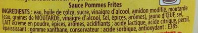 Amora Sauce Pommes Frites - Ingrédients - fr