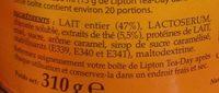 Lipton Tea Day Preparation Boisson Thé Et Lait Caramel 310g - Ingredients