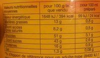 Lipton Tea Day Preparation Boisson Thé Et Lait Caramel 310g - Nutrition facts