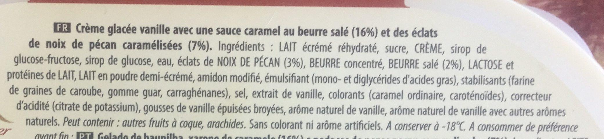 Carte D'or Les Desserts Glace Vanille Noix de Pecan 900ml - Ingrediënten - fr