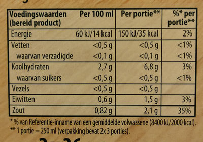 kippensoep - Voedingswaarden - nl
