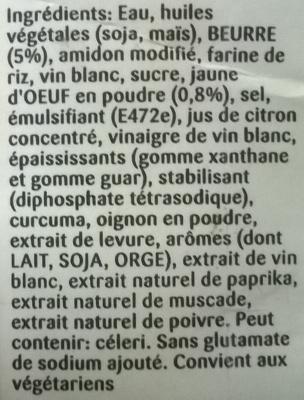 Sauce hollandaise knorr a consommer quelquefois en quantit mod r e - Vinaigre blanc composition ...