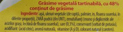 Rama Margarină - Ingrediënten - ro