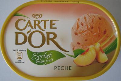 Sorbet plein fruit Pêche Carte d'Or - Prodotto - fr
