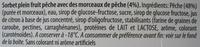 Sorbet plein fruit Pêche Carte d'Or - Ingredienti - fr