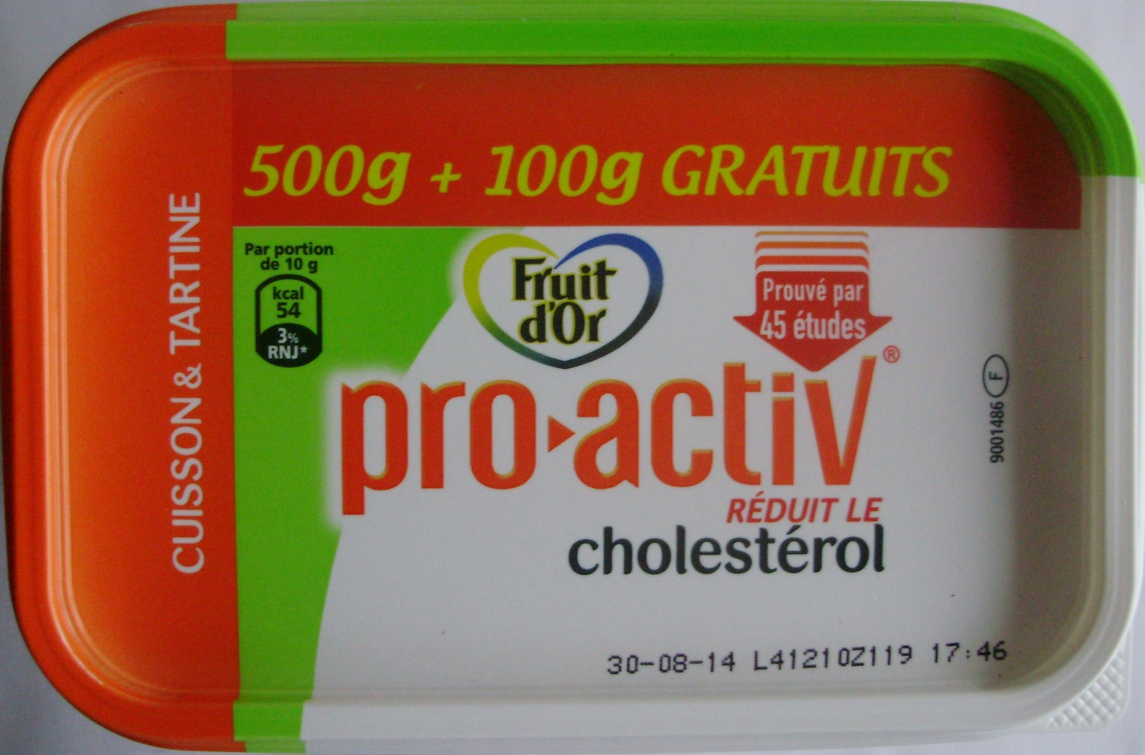 Fruit d'Or pro-activ (60 % MG) Cuisson & Tartine - Product