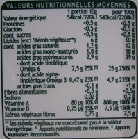 Fruit d'Or pro-activ (60 % MG) Cuisson & Tartine - Voedigswaarden