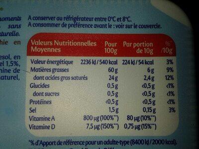 Planta Fin demi sel - Nutrition facts