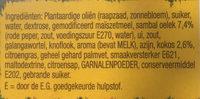 Sajoer boontjes - Ingrediënten - nl
