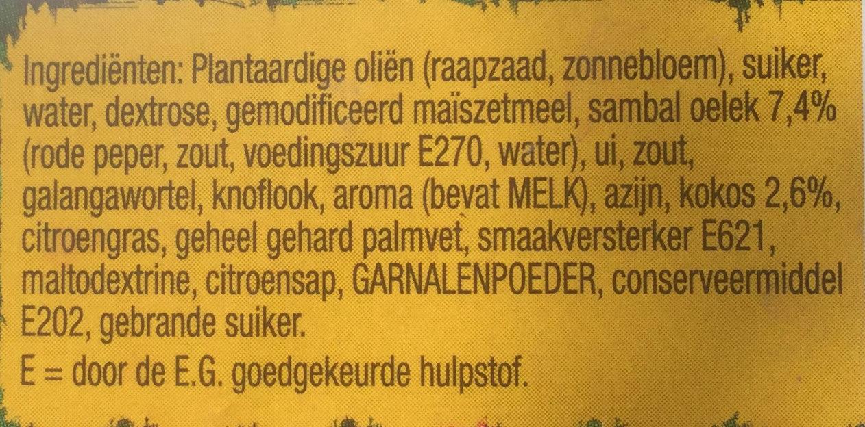 Sajoer boontjes - Ingredients