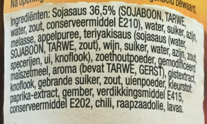 Woksaus Hoisin - Ingrediënten - nl