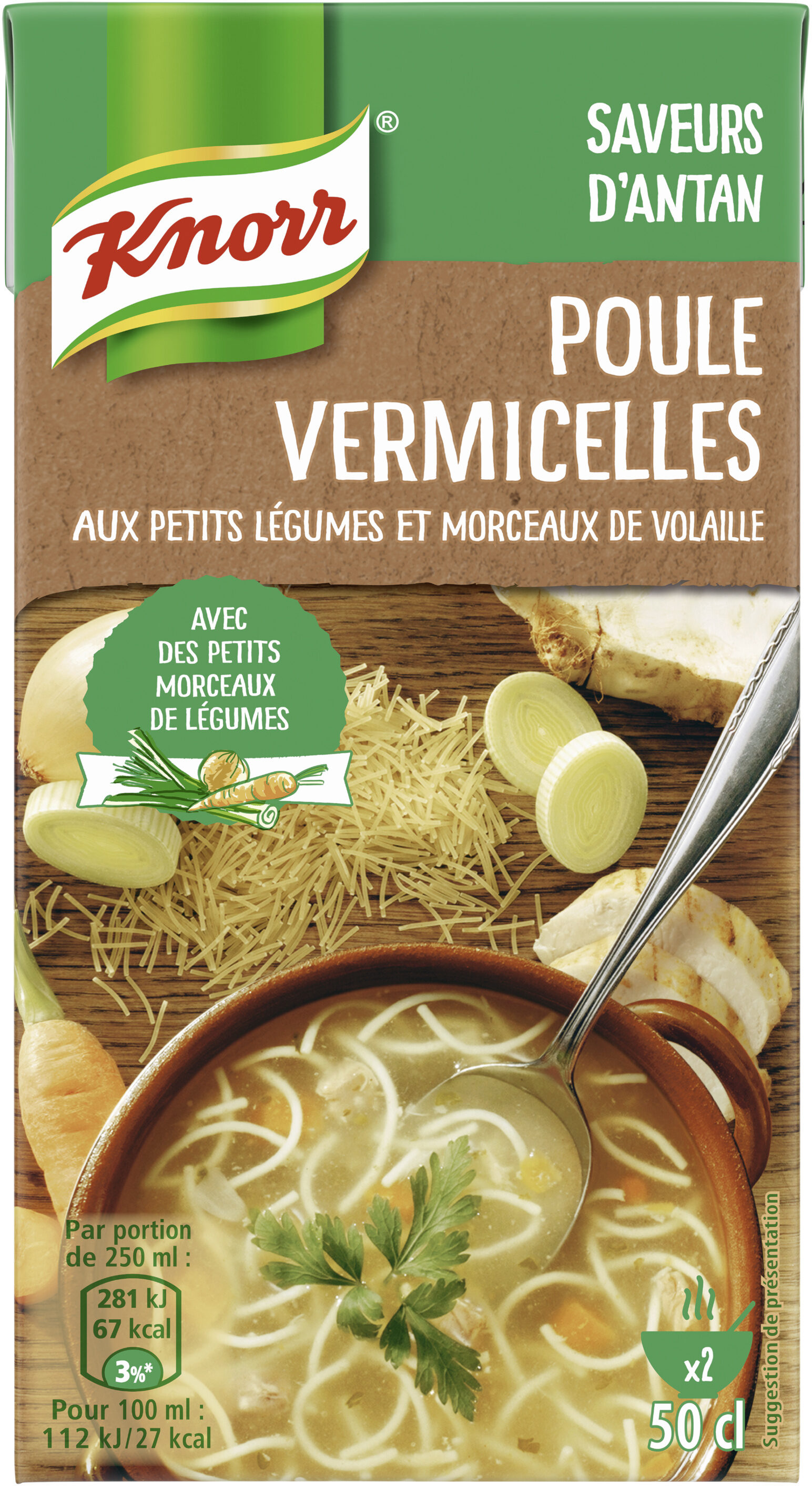 Knorr Saveurs d'Antan Soupe Poule Vermicelles 50cl - Product - fr