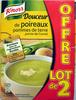 Douceur de poireaux pommes de terre pointe de Comté (lot de 2) Knorr - Produit