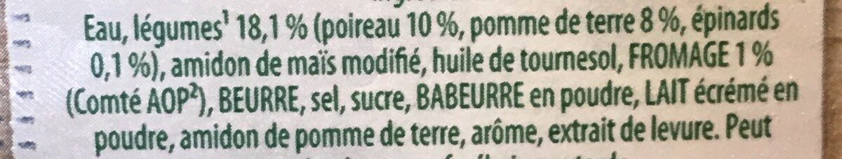 Crème poireaux - Ingrediënten - fr
