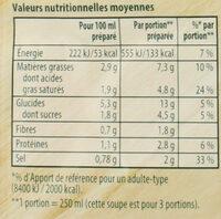 Knorr Soupe Douceur de Légumes d'Autrefois 89g 3 Portions - Voedingswaarden - fr