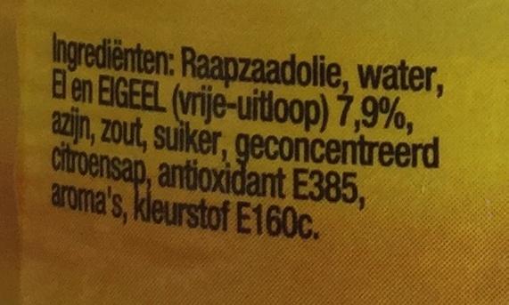 Hellmann's Real - Ingredients