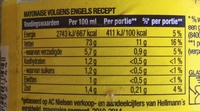 Hellmann's Real - Nutrition facts