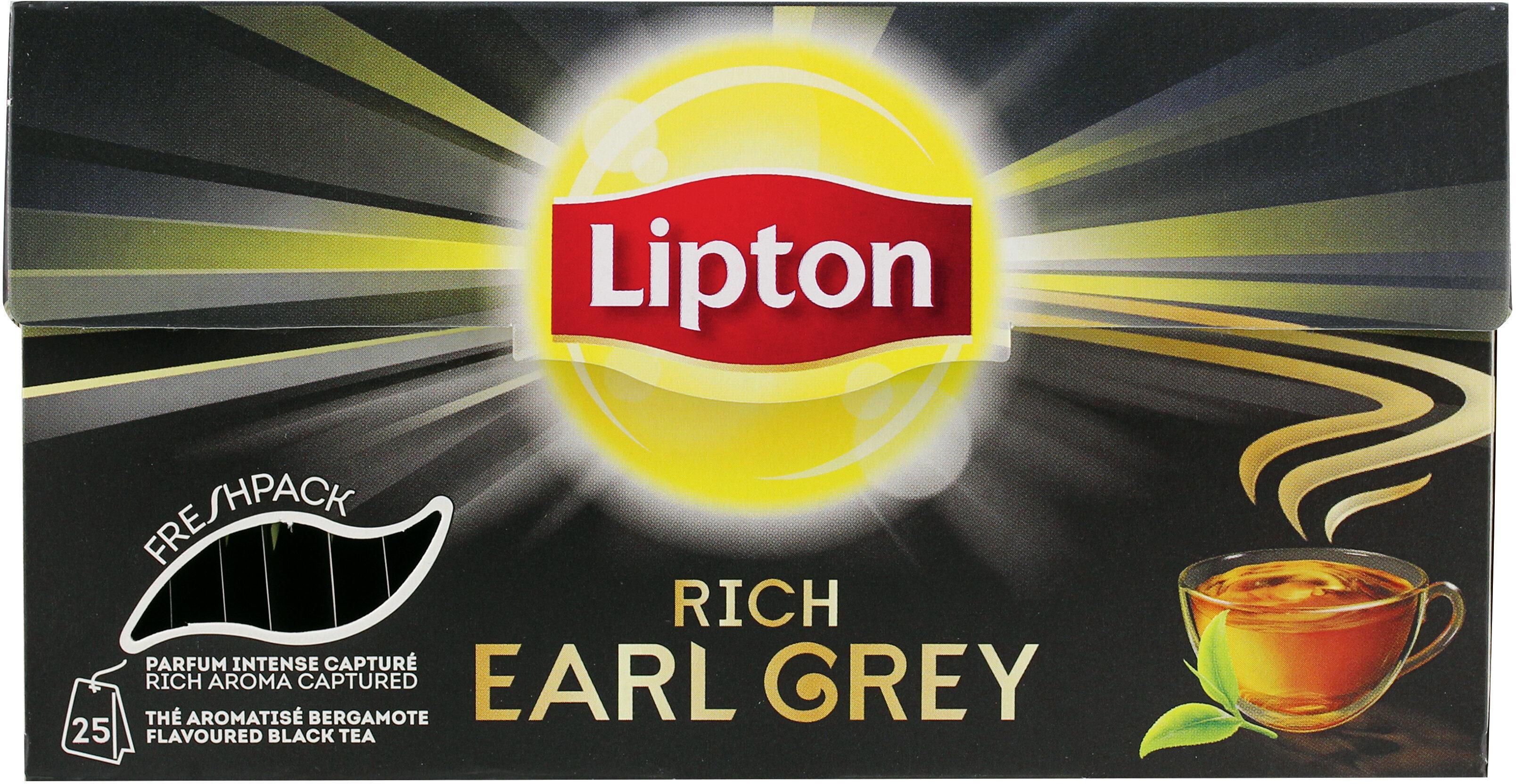 Lipton Thé Noir Rich Earl Grey 25 Sachets - Product - fr